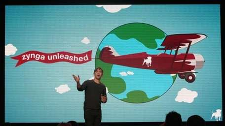 Zynga chief executive Mark Pincus speaks at a
