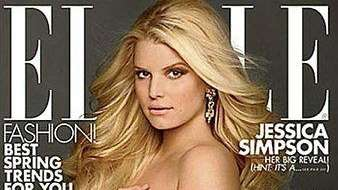 A pregnant Jessica Simpson poses nude on the