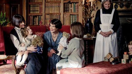 Michelle Dockery, left, stars as Crawley heiress Lady