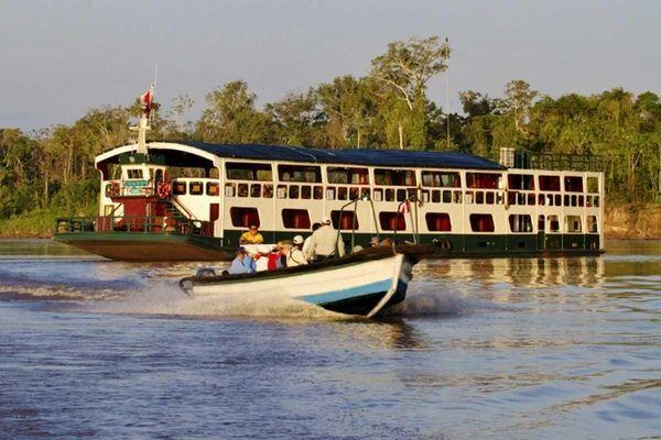 Aquamarina river boat and its excursion boat. International