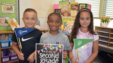 In Copiague, second-graders at Deauville Gardens West Elementary