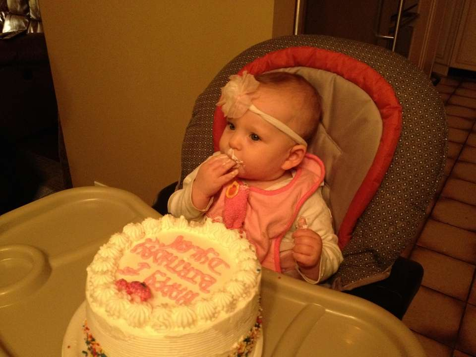 In celebrating Dylan's first birthday, she got to