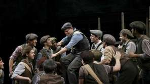 "A scene from the show ""Newsies,"" the tale"