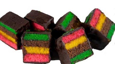 These rainbow cookies, from Shabtai Gourmet, are kosher