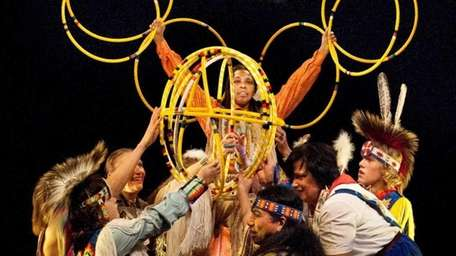 The Thunderbird American Indian Dancers perform the hoop