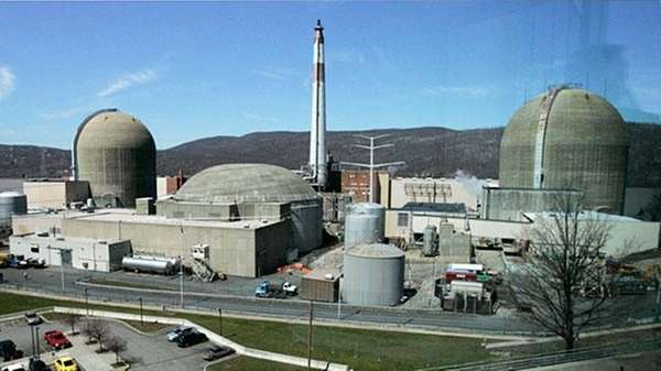At the Indian Point nuclear power plant in