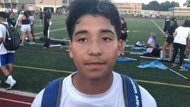 Speedy forward Eric Velasquez scored both goals in East Meadow's