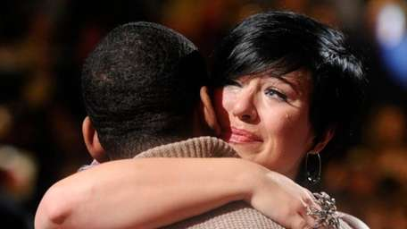 Erika Van Pelt says goodbye to fellow contestant