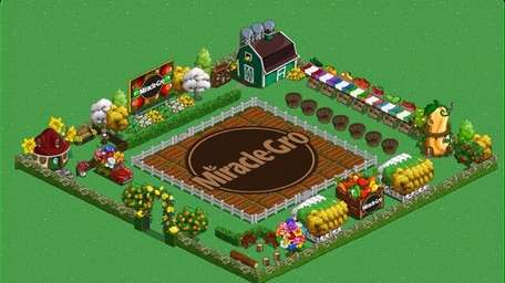 FarmVille has partnered with Miracle-Gro to help users'