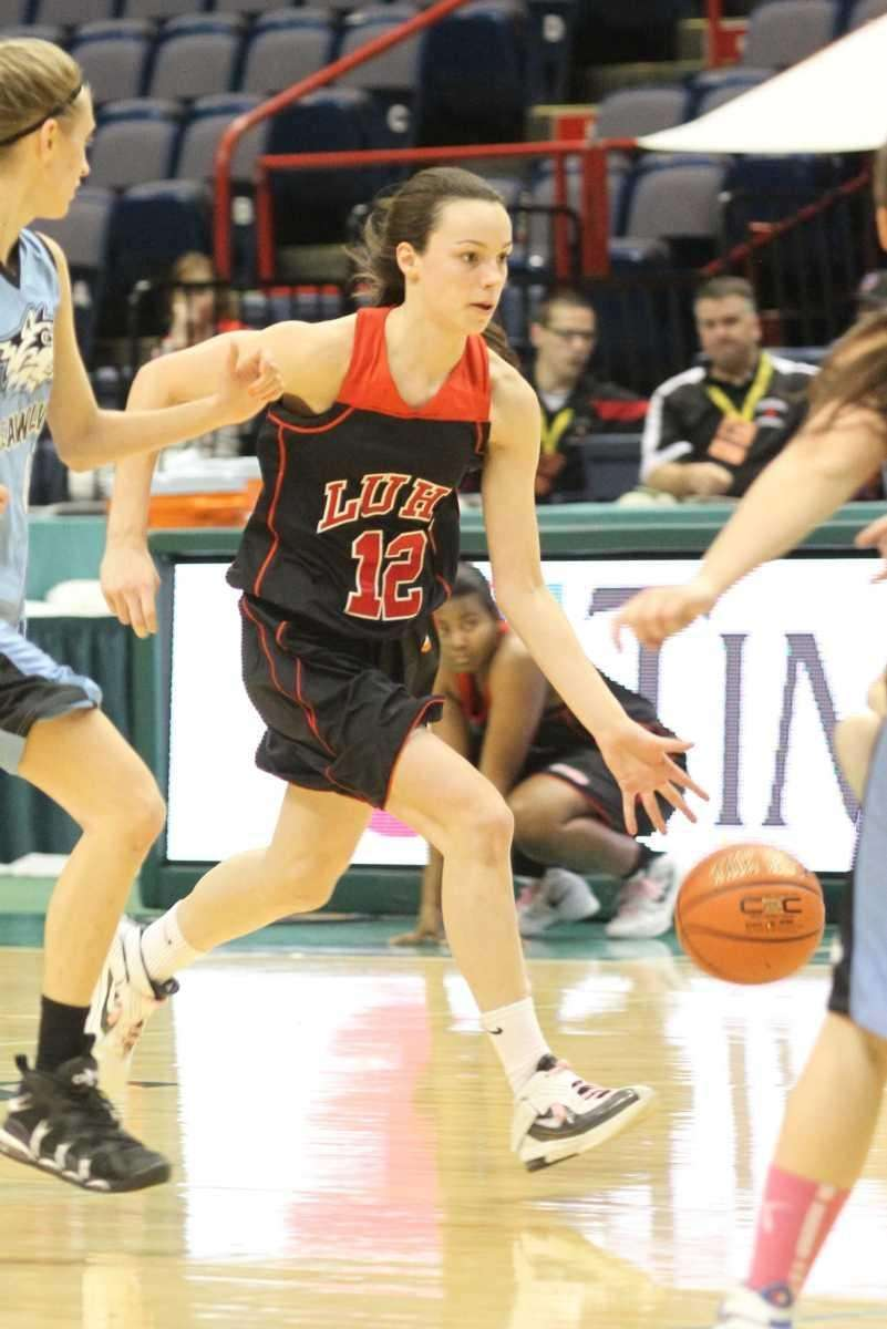 Long Island Lutheran's Kaitlin Lavelle drives up court