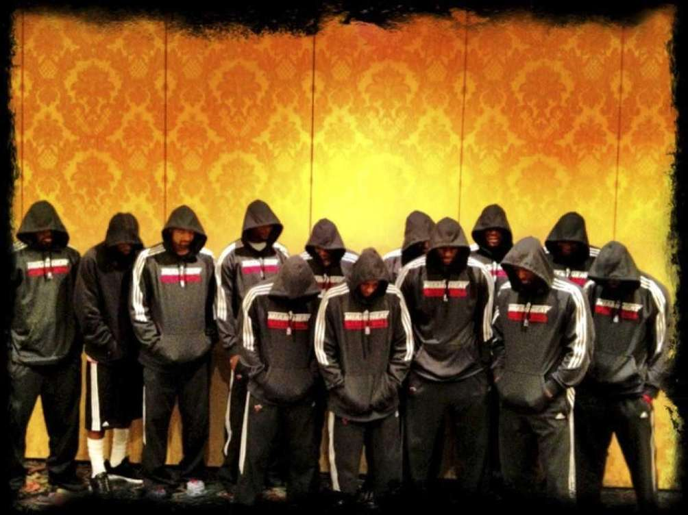 In this image posted to Miami Heat basketball