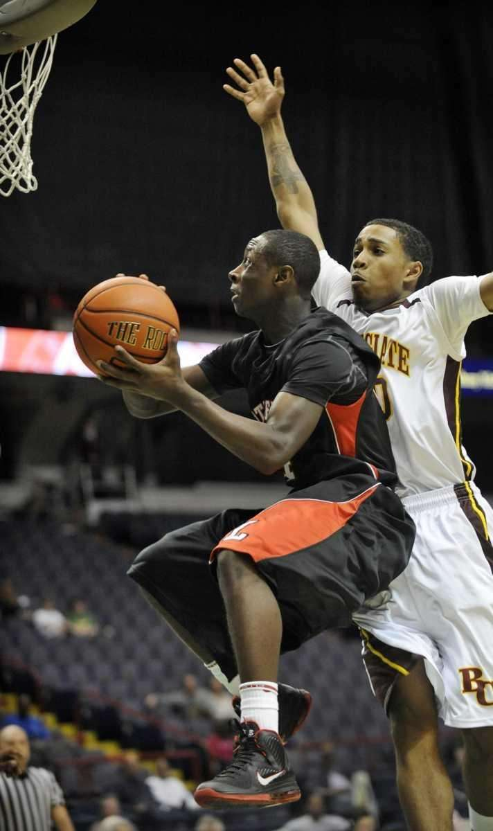 Long Island Lutheran's Chris Atkinson moves the ball