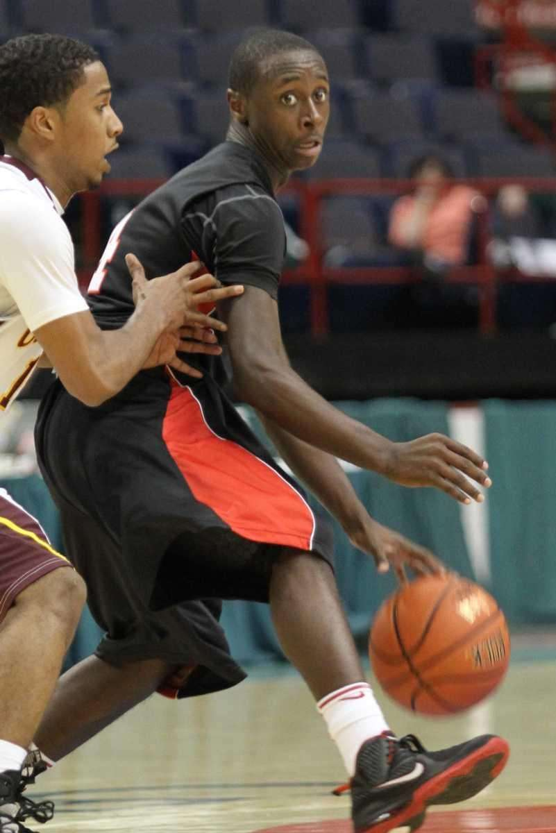 Long Island Lutheran's Chris Atkinson dribbles at the
