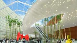 Architectural rendering in 2012 of the interior of