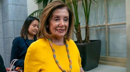 Speaker of the House Nancy Pelosi, D-Calif., arrives