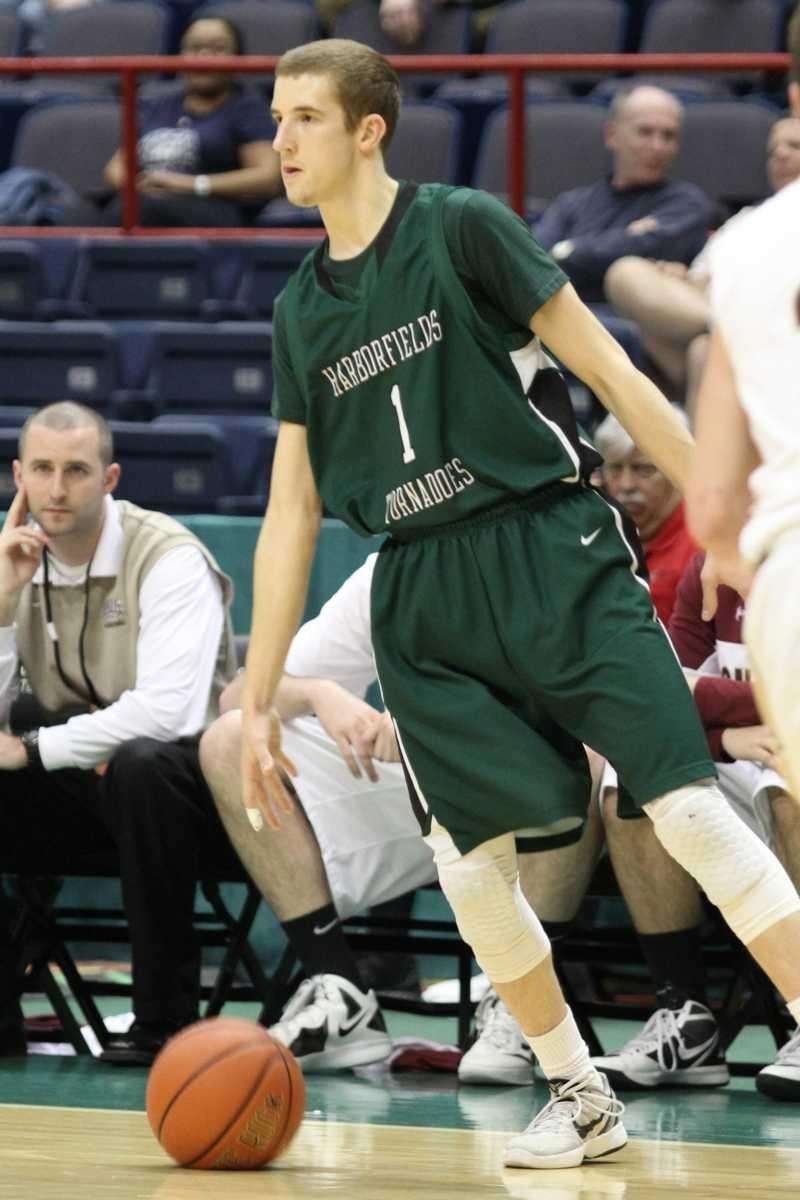 Harborfields' Lucas Woodhouse looks for an open teammate