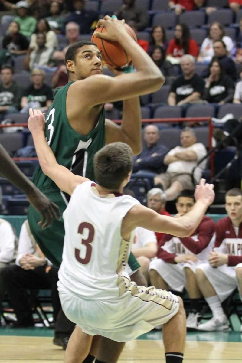 Harborfields' Chris Brady gets called for the offensive