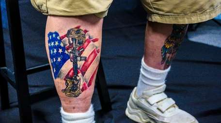 Vietnam veteran Michael DePaoli's most recent tattoo is