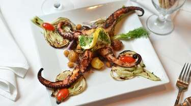 Grilled octopus at Milito's Fine Italian Restaurant in