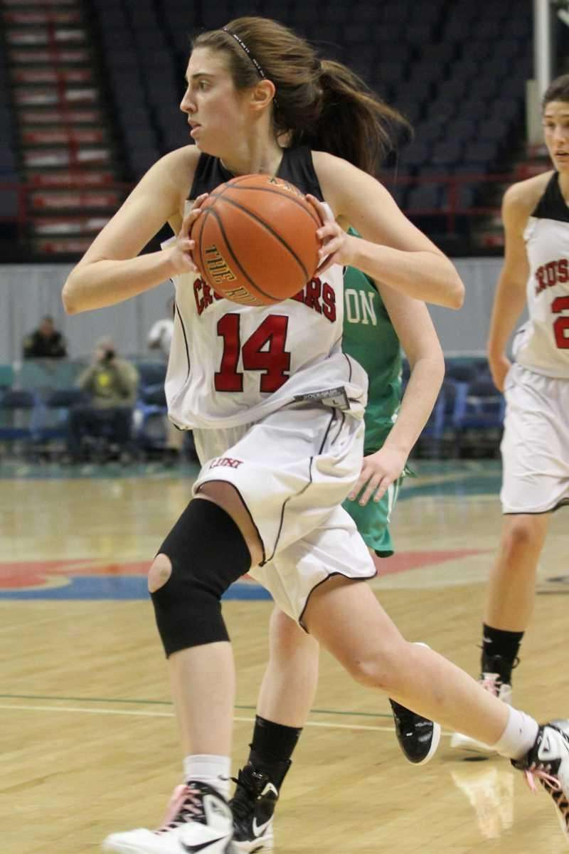 Long Island Lutheran's Paige Kriftcher drives to the