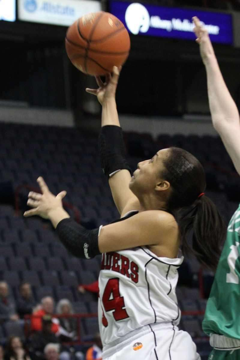 Long Island Lutheran's Lauren Brozoski drives the lane
