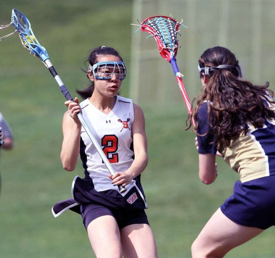 Great Neck South's Lauren Chin tries to figure