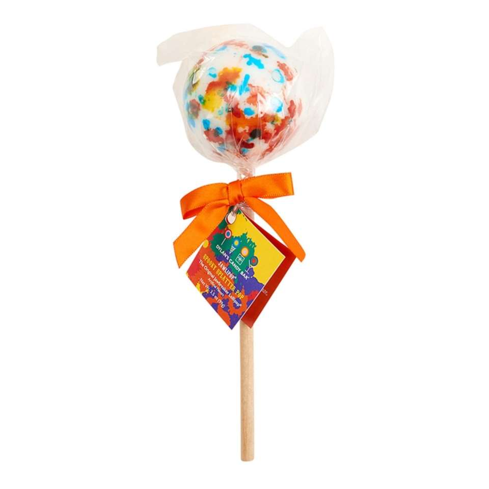 Similar to a jawbreaker, this large lollipop features