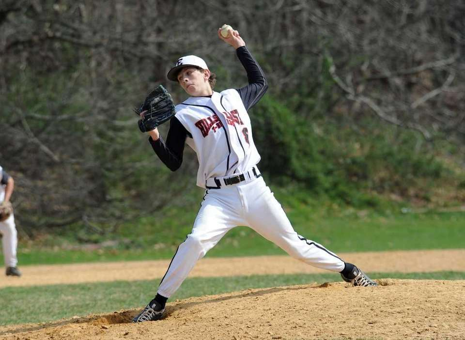 Hills East relief pitcher # 8 Matt Rosenberg