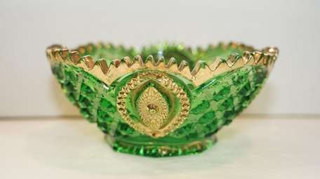 An ornate salad bowl from the Huntington Historical