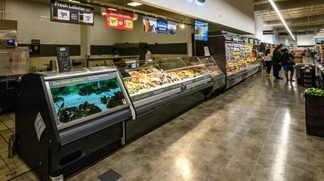 The seafood section at Stop & Shop in