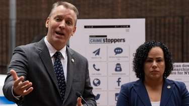 NYPD Chief of Detectives Dermot Shea, left, and