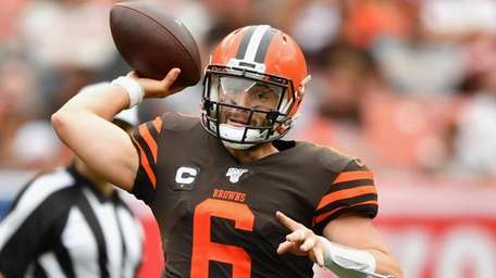 Quarterback Baker Mayfield #6 of the Cleveland Browns