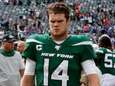 Sam Darnold of the New York Jets walks