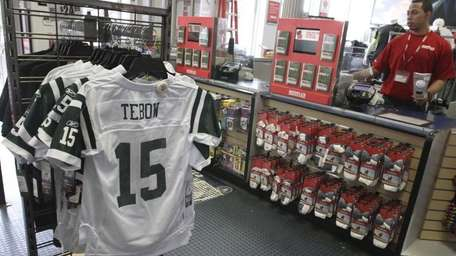 New York Jets football jerseys with the name