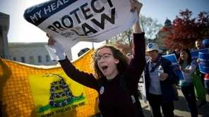 Supporters and opponents of the Patient Protection and