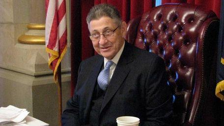 Assembly Speaker Sheldon Silver (D-Manhattan) in his office