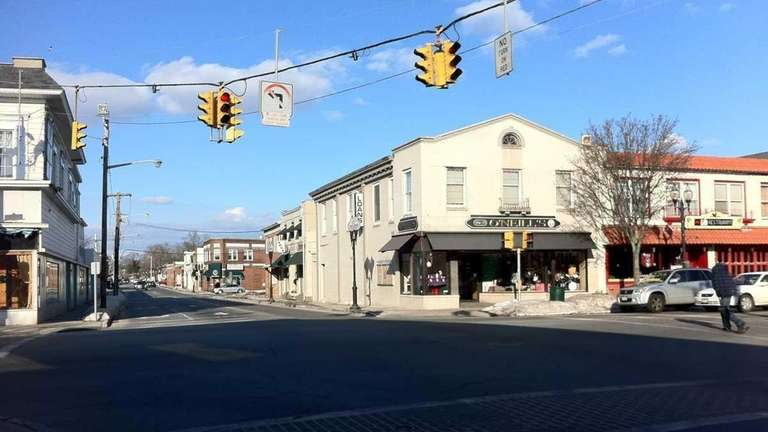 A Patchogue landmark, Four Corners, is the intersection