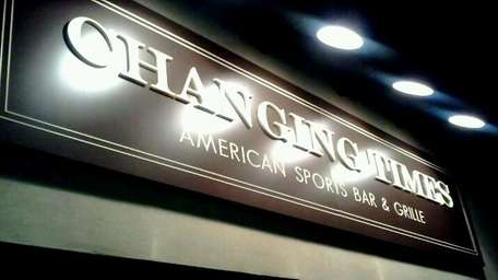The exterior sign of Changing Times American Sports