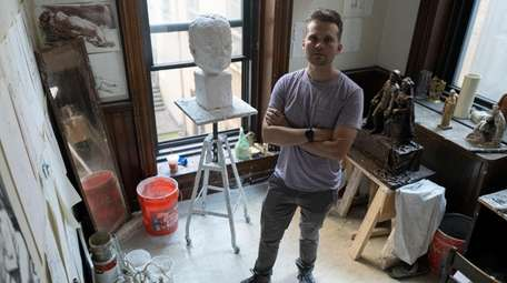 Christopher Alles, a sculptor who is featured in