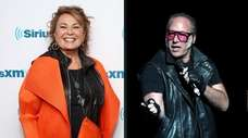 Roseanne Barr poses for photos during SiriusXM's