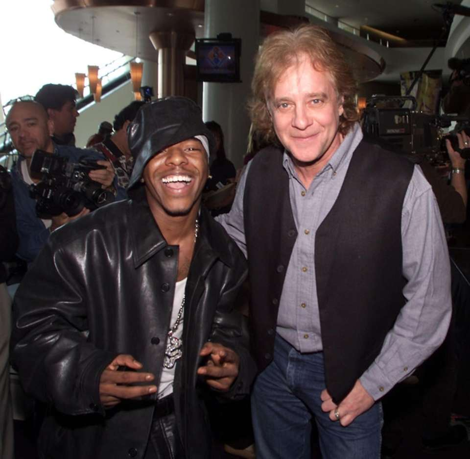 Recording artists Sisqo and Eddie Money at a