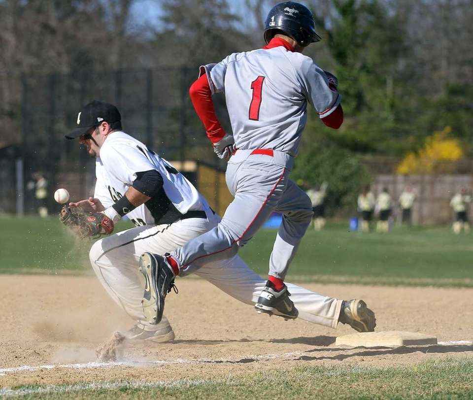 Commack first baseman Chris Baltera can