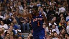 Amar'e Stoudemire #1 of the New York Knicks.