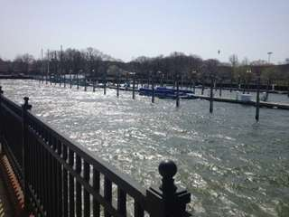 The Oyster Bay Marine Center is located at