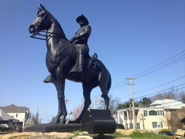 A statue of Theodore Roosevelt, the 26th president