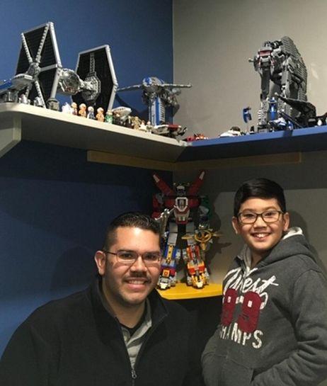 Kidsday reporter Nathaniel Cortes and his dad, Carlos
