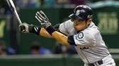Outfielder Ichiro Suzuki #51 of Seattle Mariners hits