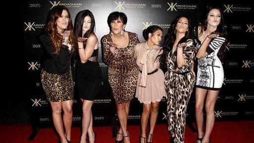 From left, Khloe Kardashian, Kylie Jenner, Kris Jenner,