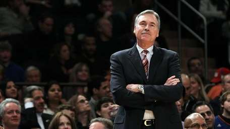 Head coach Mike D'Antoni of the New York