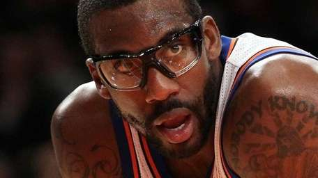 Amar'e Stoudemire of the New York Knicks in
